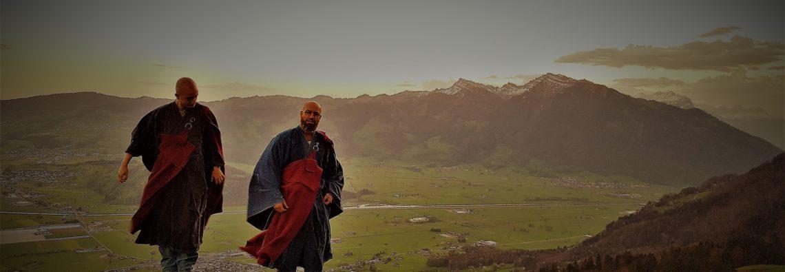 Zen Monk Marcel Reding and Zen Monk Alain M. Lafon