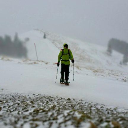 Snow Shoeing on mountain Spital