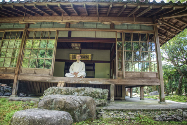Practicing at Seikenji Zen Temple