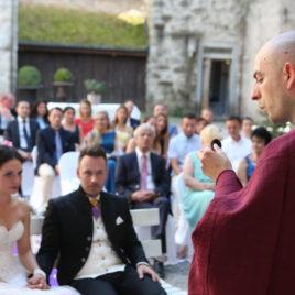 Trauung Schloss Rapperswil mit Hochzeitsredner Zen Mönch Bruder Alain M. Lafon