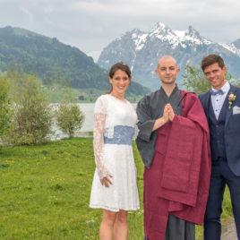 Freie Trauung am Sihlsee mit Zen Mönch Bruder Alain M. Lafon
