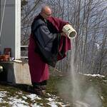 Scattering ashes in Switzerland. Funeral celebrant zen monk M. Reding will gladly guide you through the funeral ceremony.