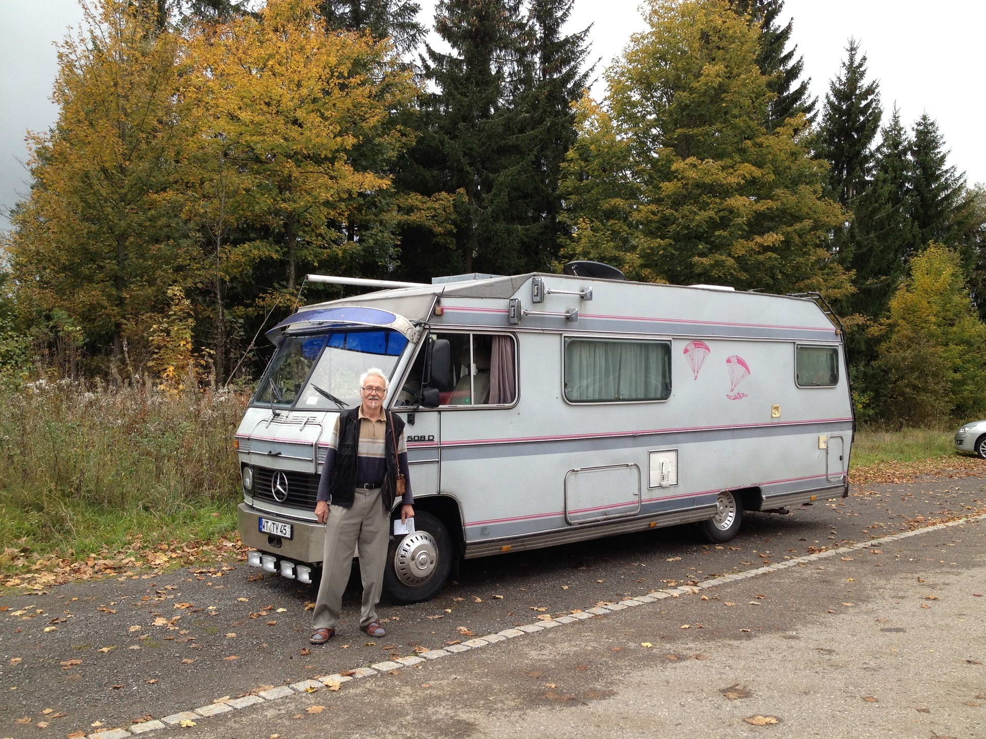 Living and travelling in a camper van with my grandfather