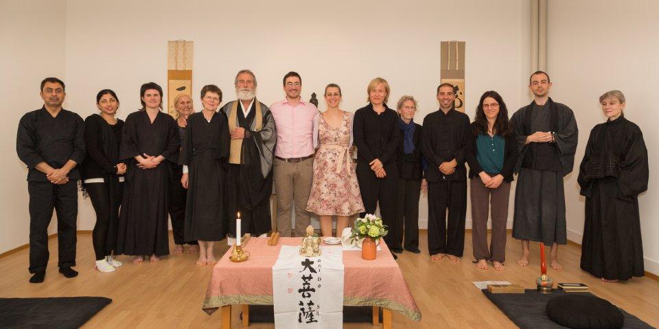 Formal Zen wedding ceremony