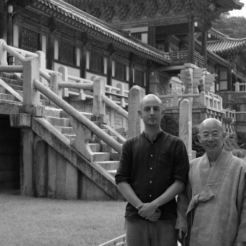 Zen Master Pohwa Sunim and Zen Monk Alain M. Lafon