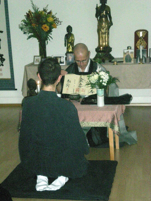 Zen Monk Shō-Kan explaining the Dharma name