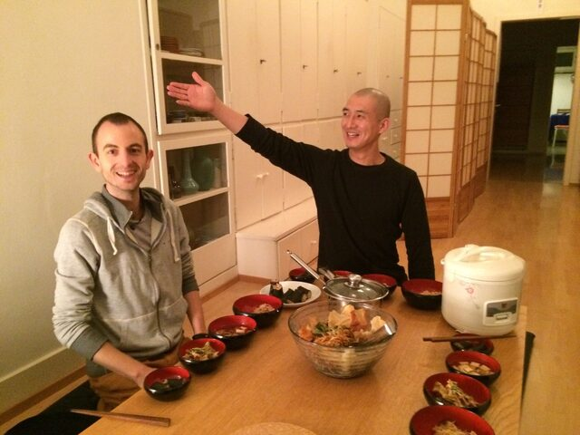 Visit from Kyoto - Dharma brother Zen Monk Tenju Osho
